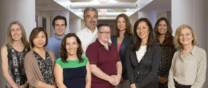 L-R: Kirsten Tillisch, Elaine Hsiao, Jonathan Jacobs, Claudia Sanmiguel, Emeran Mayer (Director), Jen Labus, Lisa Kilpatrick, Lin Chang, Arpana Gupta, Catia Sternini